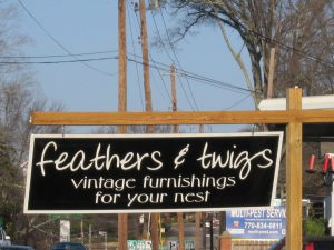 Feathers and Twigs Sign