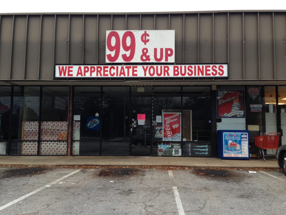 Another Closure Hits Maple Street This Time Its The 99 Cents And Up Store Located Near Hays Mill Rd We Witnessed A U Haul Truck In Parking Lot Late